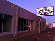 26 OCTOBER 2011 - PHOENIX, AZ: An abandoned carpet store on E Thomas Rd near 16th Street in Phoenix, AZ.  PHOTO BY JACK KURTZ