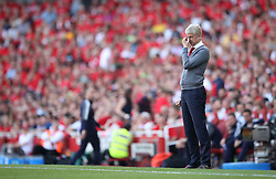 Arsenal manager Arsene Wenger on the touchline during the Premier League match at the Emirates Stadium, London.