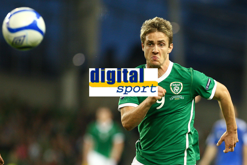 Football - UEFA Championship Qualifier - Republic of Ireland v Andorra<br /> Kevin Doyle  (Rep of Ireland) in action in the UEFA Championship Group B Qualifier between the Republic of Ireland and Andorra at the Aviva Stadium in Dublin.
