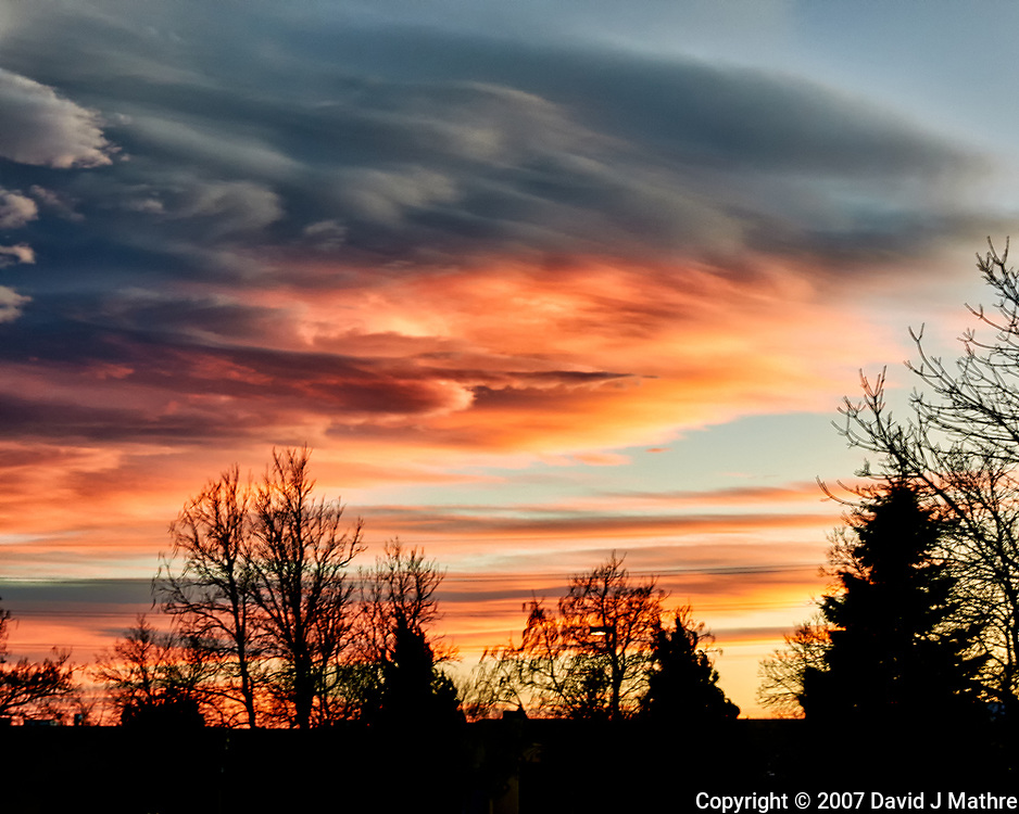 Orange and Black Clouds Over Boulder. Image taken with a Nikon D300 camera and 17-35 mm f/2.8 lens (ISO 200, 35 mm, f/11, 1/8 sec).