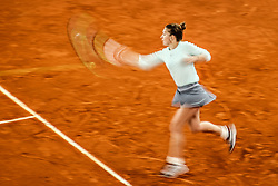 May 8, 2019 - Madrid, Spain - Simona Halep (ROU) during the Mutua Madrid Open 2019 (ATP Masters 1000 and WTA Premier) tenis tournament at Caja Magica in Madrid, Spain, on May 08, 2019. (Credit Image: © AFP7 via ZUMA Wire)