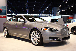 08 February 2012:  2012 JAGUAR XF: Jaguar's XF is described as a sedan with the soul of a Jaguar sports car, and for 2012, brings styling changes to be more in turned with Jaguar's contemporary design language. The XF models includes XF, XF Portfolio, XF Supercharged and the top-tier XFR. Each has a front fascia and lower rear valance treatments that differentiates model levels. Revisions to the grille, hood and front fenders, which incorporate new triangular side vents, give the car a more muscular appearance. Taillights now feature LED lighting for stop, tail, and turn indicator functions. There are three engine levels, beginning with the 4.2-liter V8 that creates 300 horsepower and 303 lb. ft. of torque. Then, there are two versions of the 5.0L V8, with one offering 385hp and 380 lb. ft. of torque. The second variation comes with the XFR package, and is supercharged to crank-out 510 hp and 461 lb. ft. of torque to the rear-wheels. With standard six-speed automatic transmission, the XFR is capable of streaking from 0-60 mph in 4.7 seconds and topping-off at 155 mph. Upgraded five-passenger interior has new seats, instrument panel, and optional 1200W Bowers & Wilkins premium surround sound system. Open the trunk to carry up to 17.7 cu. ft. of luggage. Chicago Auto Show, Chicago Automobile Trade Association (CATA), McCormick Place, Chicago Illinois