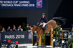 BOST Roger Yves (FRA), Sangria du Coty<br /> Paris - FEI World Cup Finals 2018<br /> Longines FEI World Cup Jumping Final I<br /> www.sportfotos-lafrentz.de/Stefan Lafrentz<br /> 12. April 2018