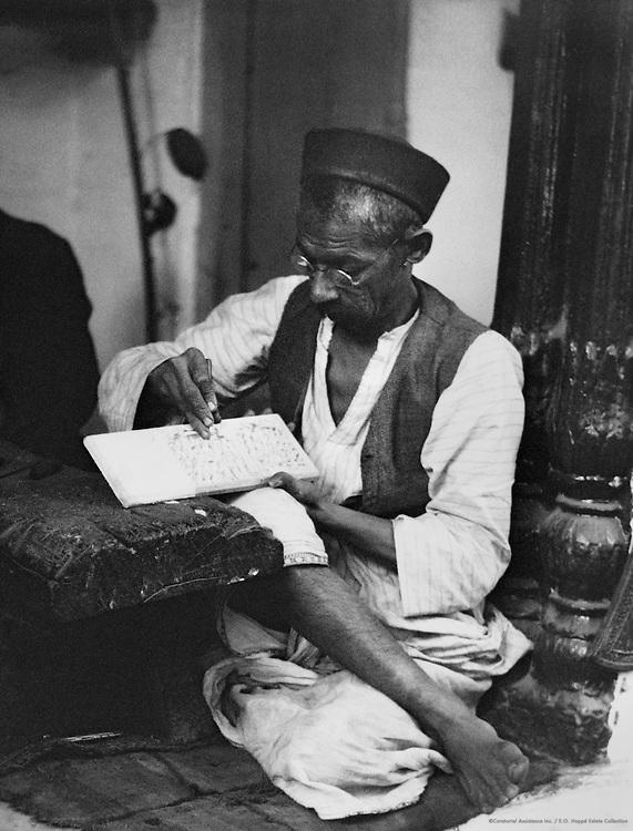 Ivory Worker, Delhi, India, 1929