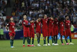 June 28, 2017 - Jogadores de Portugal lamentam durante partida entre Portugal x Chile válida pelas semifinais da Copa das Confederações 2017, nesta quarta-feira (28), realizada no Estádio da Arena Kazan, na cidade de Kazan, na Rússia. (Credit Image: © Rodolfo Buhrer/Fotoarena via ZUMA Press)