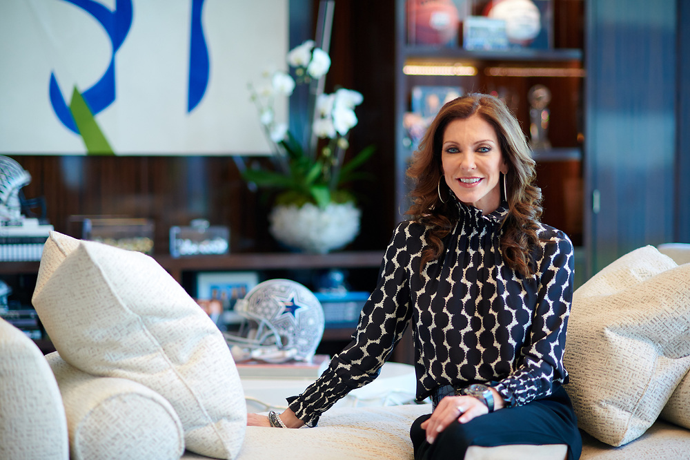 Charlotte Jones Anderson poses for a photo in her office at the the Star, the new headquarters for the Dallas Cowboys, in Frisco, Texas on November 30, 2017. (Cooper Neill for The New York Times)