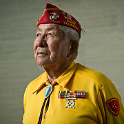 Bill Toledo, Navajo Code Talker, attended the 65th Anniversary Ceremony Commemorating the Battle for Iwo Jima at the National Museum of the Marine Corps, in Quantico, VA, on Friday, February 19, 2010. Toledo passed away in 2016. For The News & Messenger