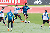 Marcos Alonso and Marco Asensio during Spain training session a few days before soccer match between Spain and Argentina in Madrid , Spain. March 24, 2018. (ALTERPHOTOS/Borja B.Hojas)