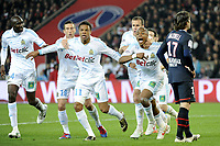 FOOTBALL - FRENCH CHAMPIONSHIP 2011/2012 - L1 - PARIS SAINT GERMAIN v OLYMPIQUE MARSEILLE - 8/04/2012 - PHOTO JEAN MARIE HERVIO / REGAMEDIA / DPPI - JOY MARSEILLE AFTER THE ANDRE AYEW'S GOAL
