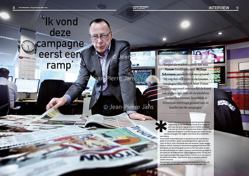 MT 21 mei 2013: hoofdredacteur Willem Schoonen van Trouw