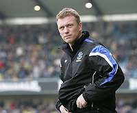 Photo: Lee Earle.<br /> Millwall v Everton. The FA Cup. 07/01/2006. Everton manager David Moyes before kick-off.
