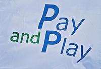 DELFT - GOLFBAAN DELFLAND , Pay an Play vlag. kennismaken met golf tijdens Open Golfdag, COPYRIGHT KOEN SUYK