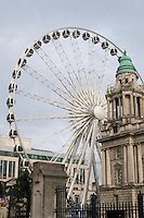 Ferris Wheel in the centre of Belfast city Northern Ireland