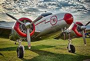 """Lockheed Electra, """"Spirit of TWA"""" at Hood River Fly In at Western Antique Aeroplane and Automobile Museum"""