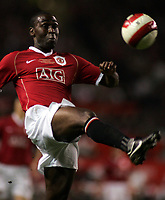 Photo: Paul Thomas.<br /> Manchester United v Europe XI. Friendly match. 13/03/2007.<br /> <br /> Ex-Utd hero Andy Cole comes on for a guest appearance for Utd.
