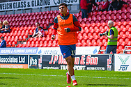 Albie Morgan of Charlton Athletic (19) warming up during the EFL Sky Bet League 1 play off first leg match between Doncaster Rovers and Charlton Athletic at the Keepmoat Stadium, Doncaster, England on 12 May 2019.