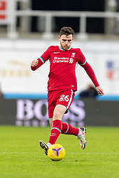 NEWCASTLE-UPON-TYNE, ENGLAND - Wednesday, December 30, 2020: Liverpool's Andy Robertson during the FA Premier League match between Newcastle United FC and Liverpool FC at St. James' Park. The game ended in a goal-less draw. (Pic by David Rawcliffe/Propaganda)