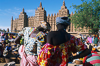 Mali, Djenné, Patrimoine mondial de l'UNESCO, Grande mosquée, plus grande mosquée en terre du monde, Marché du lundi // Mali, Djenne, Unesco World Heritage, the biggest mud mosque of the world, Monday market