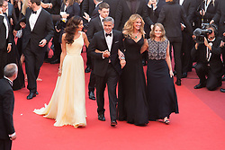 May 13, 2016 - Cannes, France - Amal Clooney, actors George Clooney and Julia Roberts and producer Jodie Foster - CANNES 2016 - MONTEE DES MARCHES DU FILM 'MONEY MONSTER' (Credit Image: © Visual via ZUMA Press)