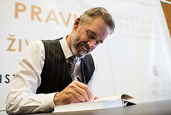 Signing the books after Lecture of dr. Jordan B. Peterson, Professor of Psychology & Clinical Psychologist and author of the bestseller 12 Rules for Life: An Antidote to Chaos, on November 18, 2018, in Gospodarsko razstavisce, Ljubljana, Slovenia. Photo by Vid Ponikvar / Sportida