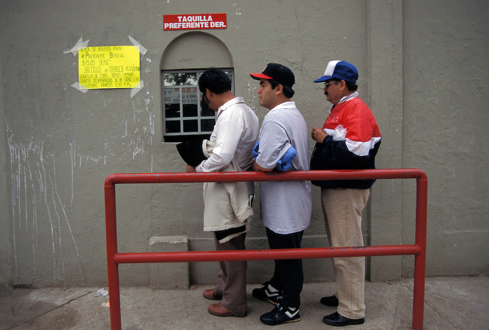 OAXACA, MEXICO:  Fans wait in line for tickets to a game in Oaxaca, Mexico.