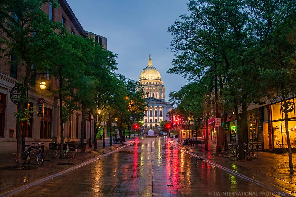 State Street, Rainy Morning