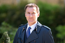 © Licensed to London News Pictures. 01/05/2018. London, UK. Health and Social Care Secretary Jeremy Hunt arriving in Downing Street to attend a Cabinet meeting this morning. Cabinet positions have recently shuffled around, following Amber Rudd's resignation as Home Secretary, following the Windrush scandal. Photo credit : Tom Nicholson/LNP