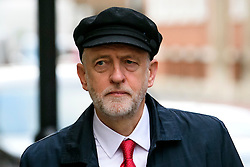 """© Licensed to London News Pictures. 10/01/2017. London, UK. Labour Party leader JEREMY CORBYN seen in London on the day he is due to give a speech on Brexit, arguing that the UK """"can be better off"""" after leaving the EU. Photo credit: Ben Cawthra/LNP"""