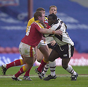 © Intersport Images .Photo Peter Spurrier.12/05/2002.Sport - Rugby League.London Broncos vs Widnes Vikings.Andy Farrell....