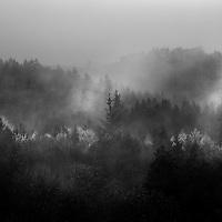 himmelbjerget i tåge