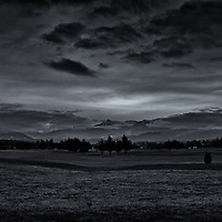Sequim, WA, mountain view<br />edited 2/17/17<br /> converted to B&W 2/17/17<br /> printed 3/02/17