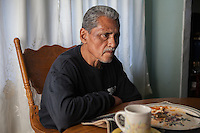 Jesús Juárez enlisted in the US Army in 1974 with hopes of escaping a rough life in Southern California. During a stint in Puerto Rico he fell off a truck severely injuring both his head and leg, spending over a week in a coma and several months hospitalized. He believes that the head trauma provoked erratic behavior that caused him to be dishonorably discharged. Soon after, he fell into old habits, went to prison and, after release, deported. He lives in Tijuana, Mexico with his mother and is fighting to get his pension and access to medical care at the Veterans Hospital in La Jolla, California.