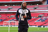 AFC Wimbledon midfielder Jimmy Abdou (8) looking into stand during the The FA Cup 3rd round match between Tottenham Hotspur and AFC Wimbledon at Wembley Stadium, London, England on 7 January 2018. Photo by Matthew Redman.