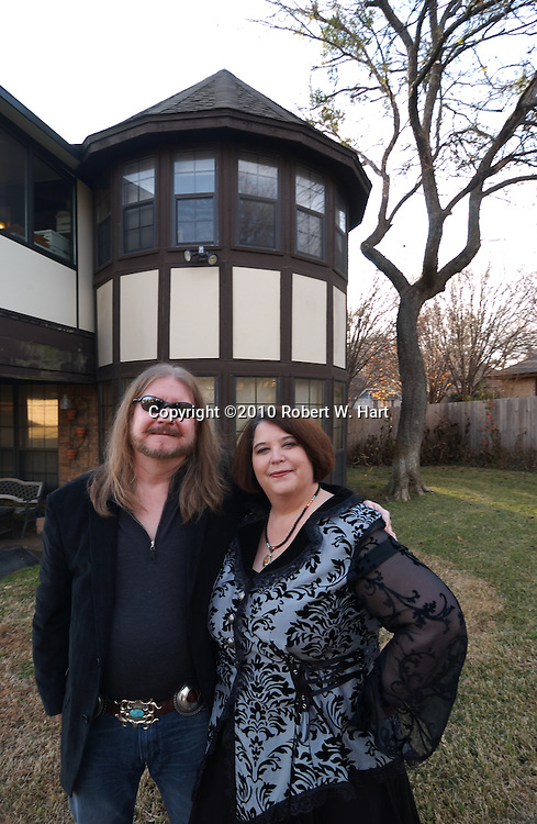 Author Roxanne Conrad and husband, Kit, at their Fort Worth home on Jan. 02, 2011.