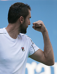 September 5, 2018 - Flushing Meadows, New York, U.S - Marin Cilic wins the first set of his match against Kei Nishikori on Day 10 of the 2018 US Open at USTA Billie Jean King National Tennis Center on Wednesday September 5, 2018 in the Flushing neighborhood of the Queens borough of New York City. (Credit Image: © Prensa Internacional via ZUMA Wire)