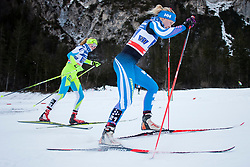Anita Klemencic (SLO) and Andrea Julin (FIN) during the ladies team sprint race at FIS Cross Country World Cup Planica 2016, on January 17, 2016 at Planica, Slovenia. Photo By Urban Urbanc / Sportida