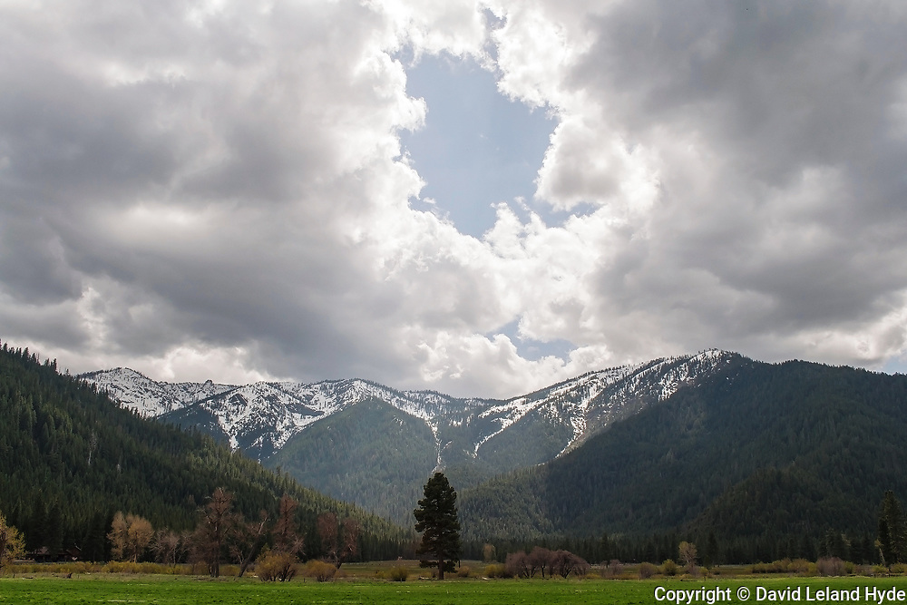 Cloud Opening Over Grizzly Ridge, Genesee Valley Ranch, California Mountains, Grizzly Peak, Sunlight Through Clouds, Good Sign, Omen
