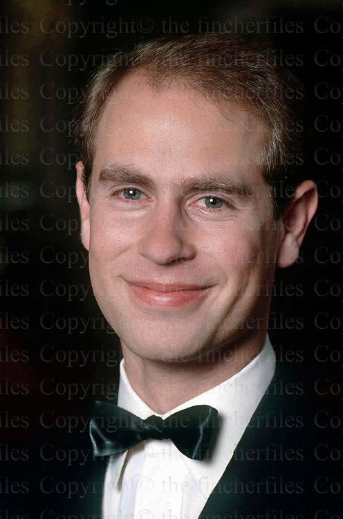 Prince Edward the Earl Of Wessex seen at Buckingham Palace, London in march 1990. Exclusive photograpah by Jayne Fincher