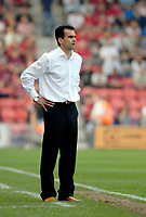 Photo: Leigh Quinnell.<br /> AFC Bournemouth v Swansea City. Coca Cola League 1. 14/04/2007. Swansea boss Roberto Martinez looks on.