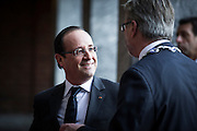 French President Francois Hollande arrives at The Nobel Peace Prize ceremony in Oslo.