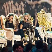 NLD/Amsterdam/20140410 - Uitreiking 3FM Awards 2014, Krystl Pullens, Jacqueline Govaert en Sanne Hans, Miss Montreal