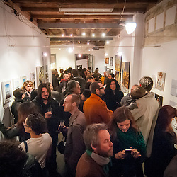 """""""untitled"""" BCN fills the room for an art opening for several local and international artist."""