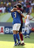 Foto Omega/Colombo<br /> 26/06/2006 Campionati Mondiali di Calcio 2006<br /> Ottavi di Finale <br /> Italia -Australia  <br /> nella foto : Gianluigi Buffon  e Fabio Grosso