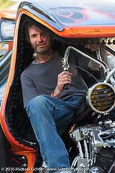 BF8 Invited builder JP Rodman at the Born Free 8 Custom Motorcycle Show. Silverado, CA, USA. June 26, 2016.  Photography ©2016 Michael Lichter.