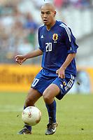 FOTBALL - CONFEDERATIONS CUP 2003 - GROUP A - 030618 - NEW ZEALAND v JAPAN - NAOHIRO TAKAHARA (JAP) - PHOTO STEPHANE MANTEY / DIGTIALSPORT