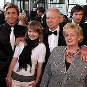 NLD/Rotterdam/20080420 - Premiere Les Miserables, Ouders Carlo en Ron Boszhard, partner Herald Adolfs en nichtje Naomi