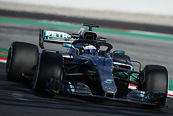 March 6, 2018 - Barcelona, Catalonia, Spain - March 6th, 2018 - Circuit de Barcelona-Catalunya, Montmelo, Spain - Formula One preseason 2018;Valtteri Bottas of Mercedes-AMG-Petronas Formula One  Team during the installation lap. (Credit Image: © Eric Alonso via ZUMA Wire)