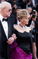 Michael Caine and Jane Fonda at the gala screening for the film Youth at the 68th Cannes Film Festival, Wednesday May 20th 2015, Cannes, France.