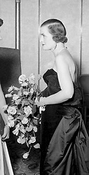 29 September 1954 - The Duchess of Argyll at a ball in London.<br /> <br /> Photo by Desmond O'Neill Features Ltd.  +44(0)1306 731608  www.donfeatures.com