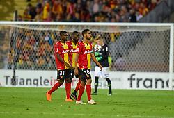 August 28, 2018 - Lens, France - Deception des joueurs de l equipe Lens - Walid Mesloub ( Lens ) - Modibo Sagnan  (Credit Image: © Panoramic via ZUMA Press)